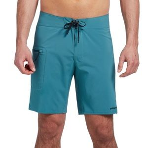 NWT PATAGONIA Men's stretch Teal Swim Boardshorts
